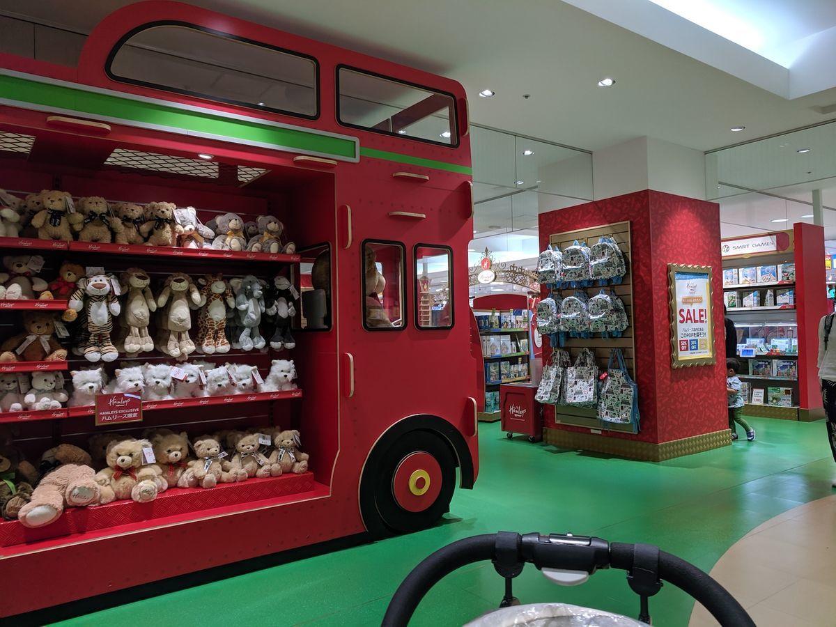Example shelves in Hamleys Yokohama at 201906