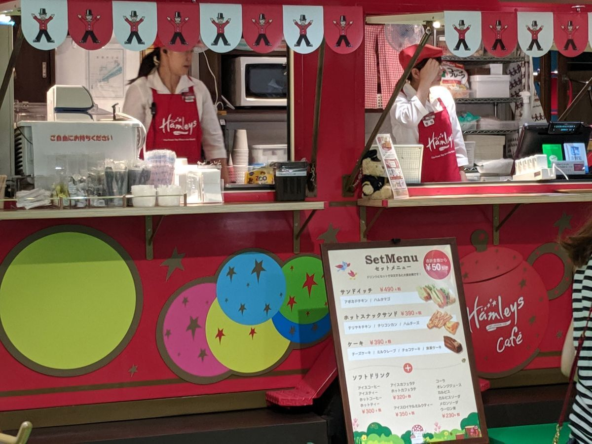 Hamleys cafe in Yokohama at 201906