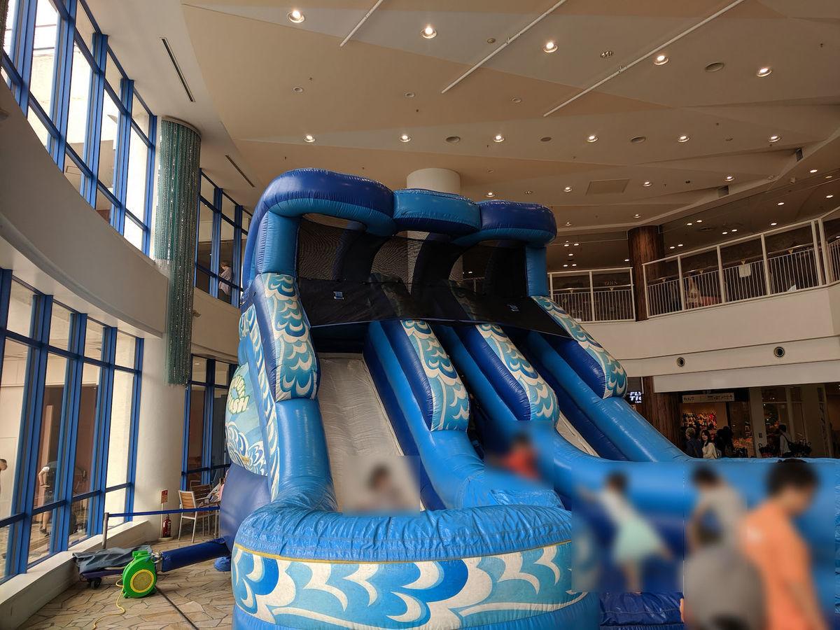 An air slider at Aqua City Odaiba