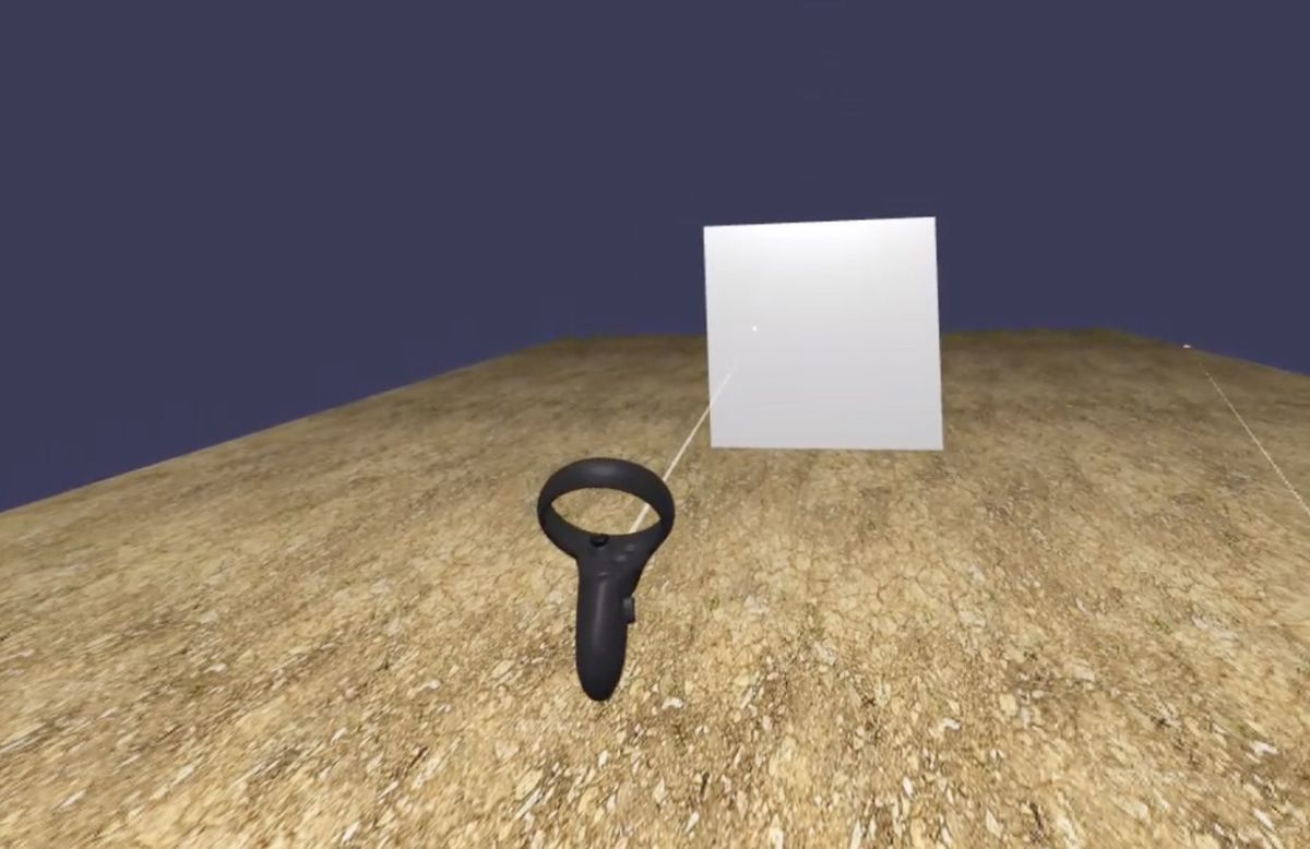 Example of raycast from vr controller in babylon.js