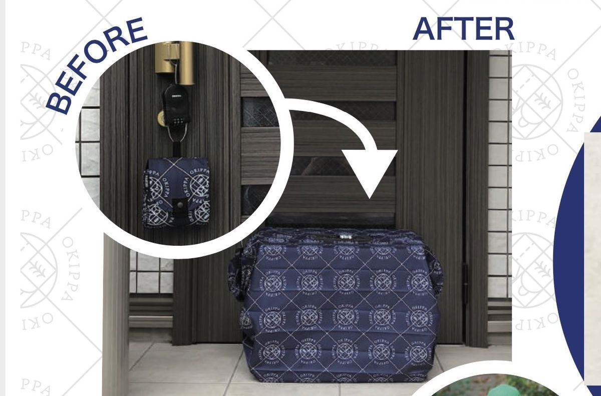 before and after of OKIPPA bag