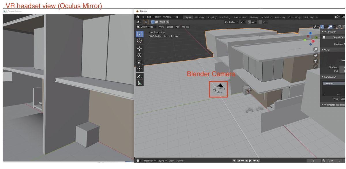 VR Session on Blender 2.83 alpha