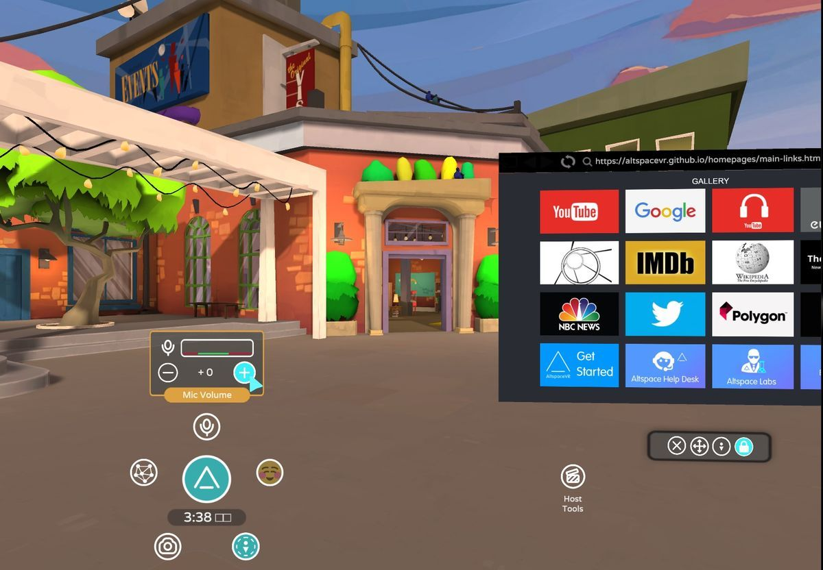 Mic volume setting on AltspaceVR