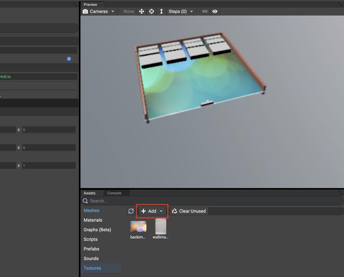 Add textures on Babylon.js Editor