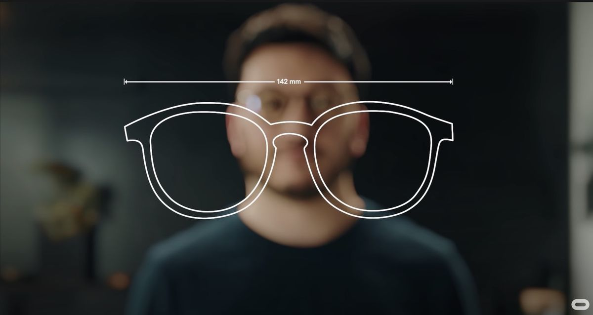 Supported size of glasses on Oculus Quest2