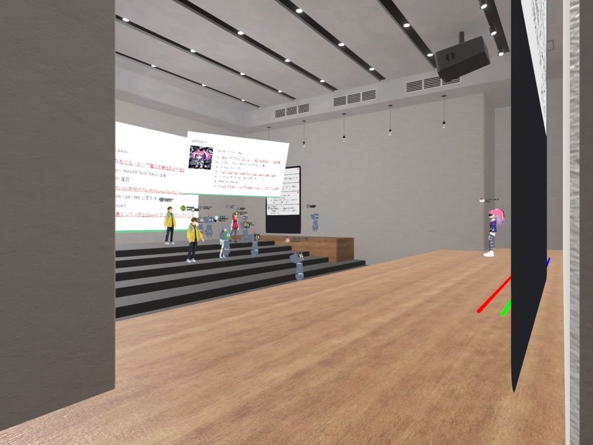 Virtual conference hall of WebXR Tech Tokyo#3