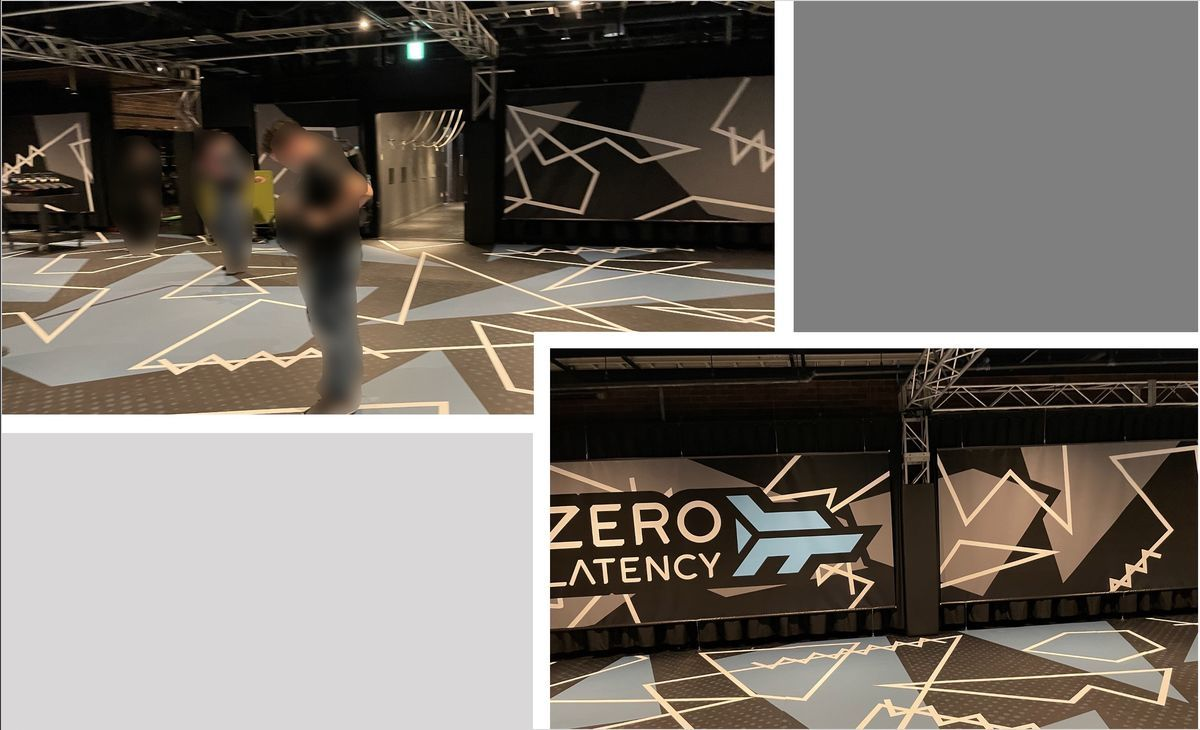 Playable area of Zero LatencyVR in Tokyo Joypolis