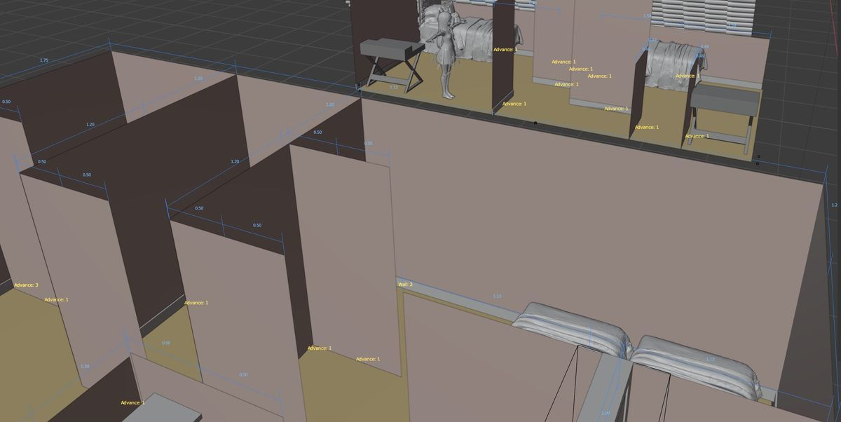 An example of room on Blender and Archimesh