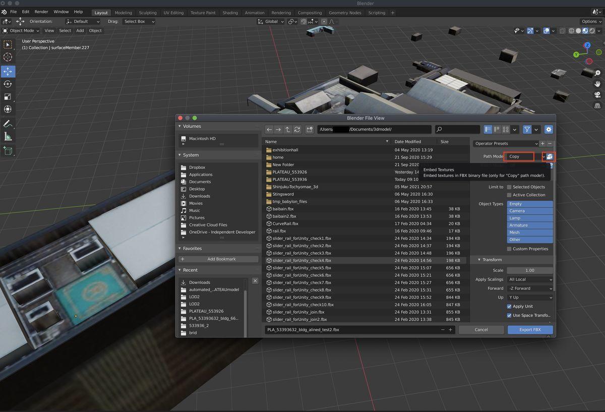 Export setting as fbx on Blender2.93