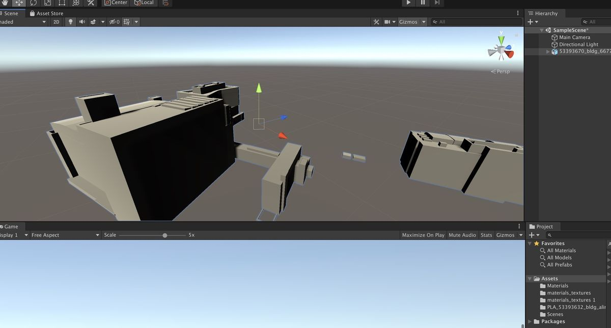 Just importing fbx data into Unity2019