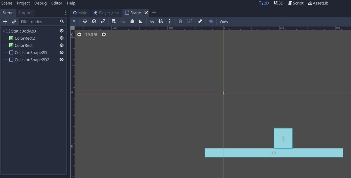 Example of stage in Godot Engine