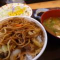 2013/04/14 やきそば牛丼@すき家