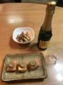 [2018誕生日ディナー]お酒は発泡日本酒 一代弥山スパークリング