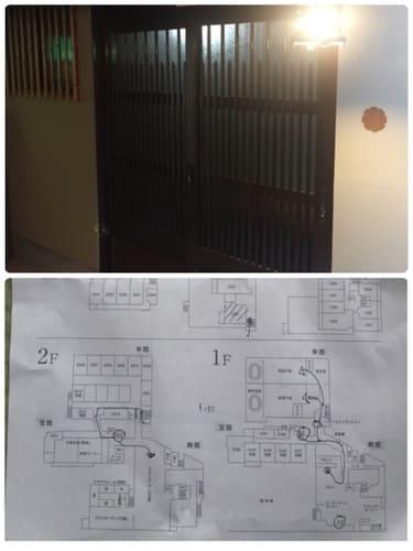 特別室入り口と館内図