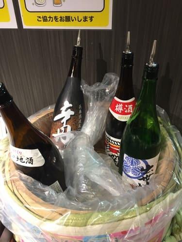 ホテル大野屋日本酒写真