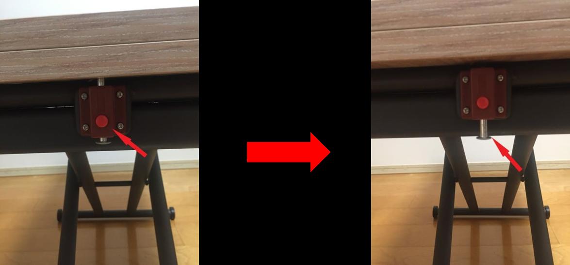 天板のロック解除写真