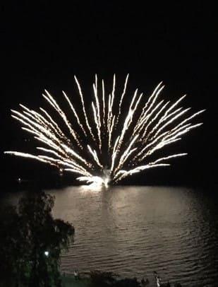 洞爺湖花火画像