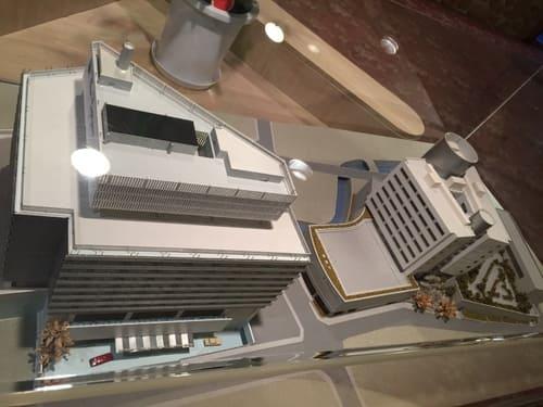 熱海ニューフジヤホテルの建物模型の写真