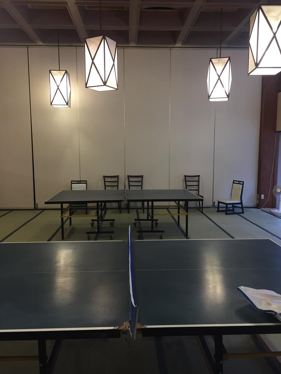 ホテル四季彩の卓球台の写真