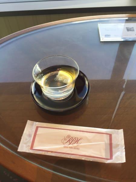 ロイヤルパークホテルのウエルカムドリンク写真