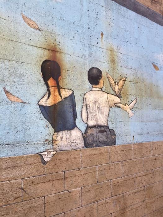 街で見かけた壁画写真