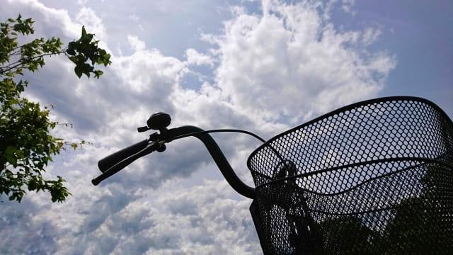 自転車ハンドル付近の写真