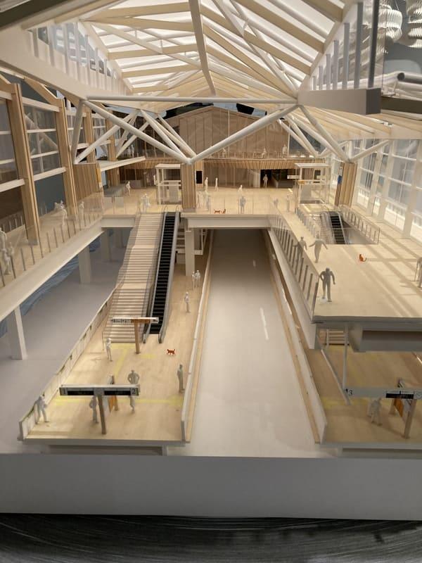 高輪ゲートウェイ駅の模型の写真