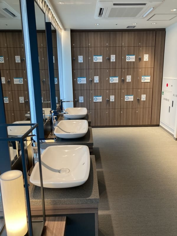 三井ガーデンホテル五反田の大浴場のウォーターサーバーの写真