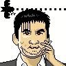 この似顔絵は「似顔絵イラストメーカー(http://illustmaker.abi-station.com/)」で作成しました。