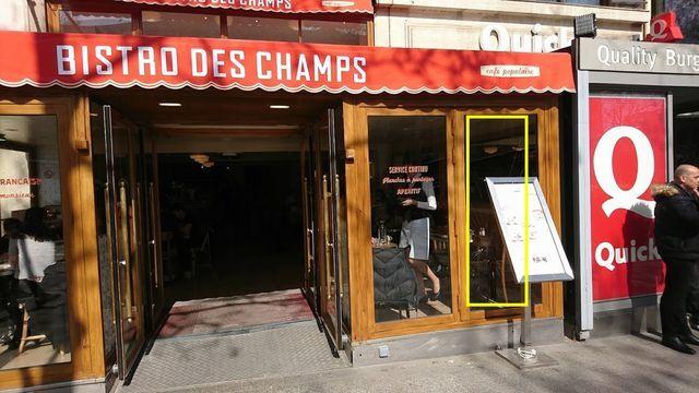 パリシャンゼリゼ通り・Bisto des Champs外観2