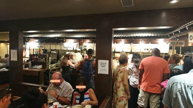 丸亀製麺・ハワイワイキキ店の様子(店内)4