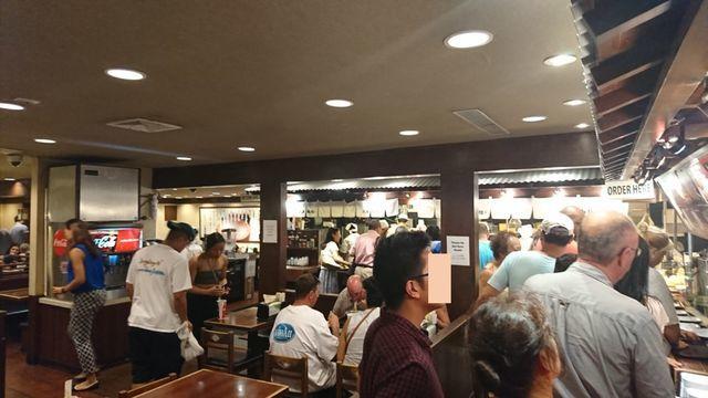丸亀製麺・ハワイワイキキ店の様子(店内)3