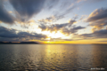 [北海道][サロマ湖][空]琥珀色のサロマ湖
