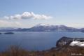 [北海道][冬景色][洞爺湖]冠雪頂く有珠山
