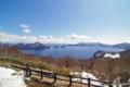 [北海道][冬景色][洞爺湖]サイロ展望台から望む早春の洞爺湖