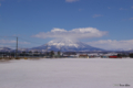 [北海道][冬景色][羊蹄山]サイロ展望台から望む羊蹄山