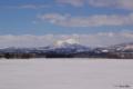 [北海道][冬景色]サイロ展望台から望む尻別岳