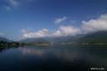 [山梨県][富士五湖]河口湖大橋から望む河口湖・御坂山塊