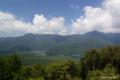 [山梨県][青木ヶ原樹海][富士五湖]紅葉台から望む西湖・御坂山塊