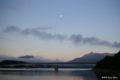 [山梨県][富士五湖]河口湖と月 I