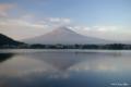 [山梨県][富士五湖][富士山]朝焼けの逆さ富士 II