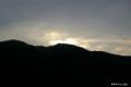 [山梨県][富士五湖]天上山に昇る朝日