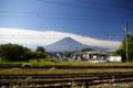 [山梨県][富士五湖][富士山]河口湖駅裏から望む富士
