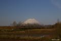 [北海道][羊蹄山]夕陽に染まる早春の蝦夷富士