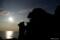 夕景の親小熊岩