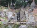 [東京][靖国神社]靖国神社 神池庭園 滝岩組