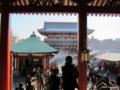 [東京][浅草]浅草寺本堂から宝蔵門を望む