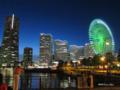 [横浜][夜景][みなとみらい]ワールドポーターズ前から望むみなとみらい地区の夜景
