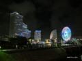 [横浜][夜景]日本丸交差点から望むみなとみらい地区の夜景