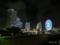 日本丸交差点から望むみなとみらい地区の夜景